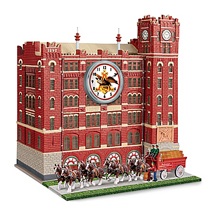 Budweiser Brew House Illuminated Clock With Clydesdales