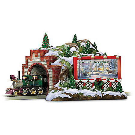 Thomas Kinkade Christmas Mountain Tunnel Train Accessory