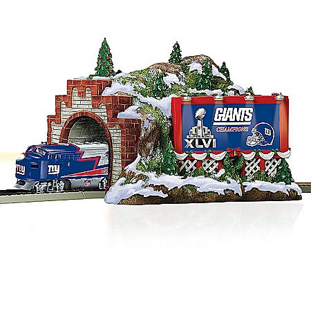 Train Accessory: NFL New York Giants Christmas Mountain Tunnel