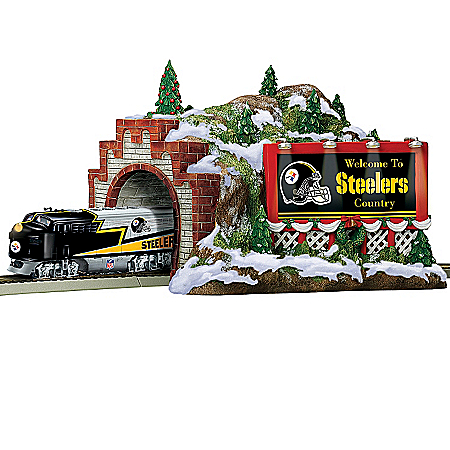 Train Accessory: NFL Pittsburgh Steelers Christmas Mountain Tunnel