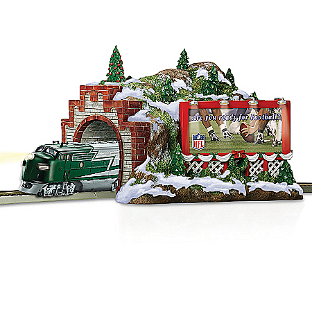 Train Accessory: NFL Football Christmas Mountain Tunnel