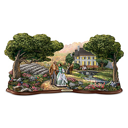 Thomas Kinkade GONE WITH THE WIND 75th Anniversary Sculpture With Scarlett O'Hara