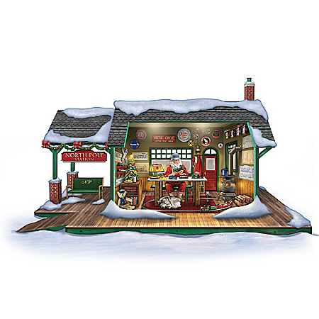 Santa's Ultimate Train Workshop Christmas Sculpture