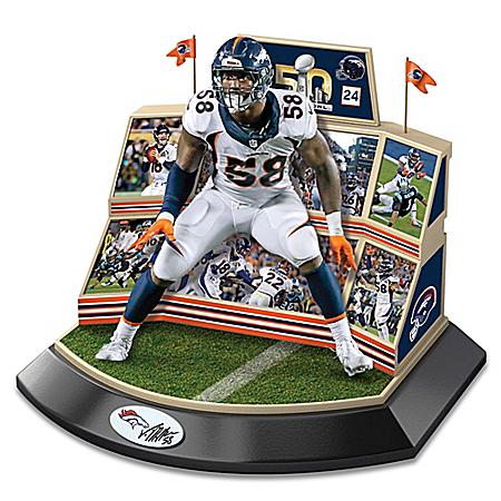 Von Miller Super Bowl 50 Signature Moments Sculpture
