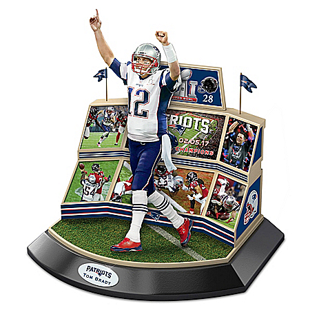 New England Patriots Super Bowl LI Championship Moments Tom Brady Sculpture