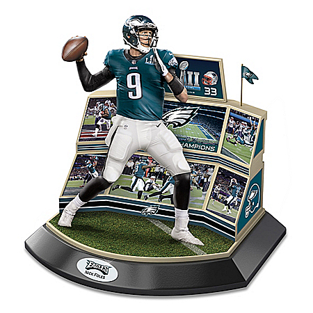 Philadelphia Eagles NFL Super Bowl LII Championship Moments Sculpture