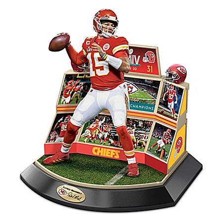 Kansas City Chiefs NFL Super Bowl LIV Championship Moments Sculpture