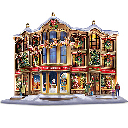 Thomas Kinkade Memories Of Christmas Story Windows Village Holiday Sculpture