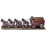 Budweiser Clydesdale Handcrafted Cold-Cast Bronze Sculpture