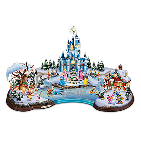 Disney Christmas Cove Light Up Miniature Village Sculpture