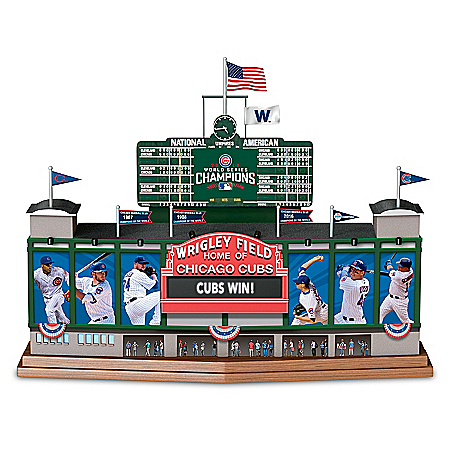 Wrigley Field - Go Chicago Cubs Go Musical MLB Sculpture
