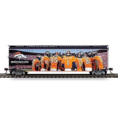 NFL-Licensed Denver Broncos Personalized Train Box Car Runs On HO-Gauge Track