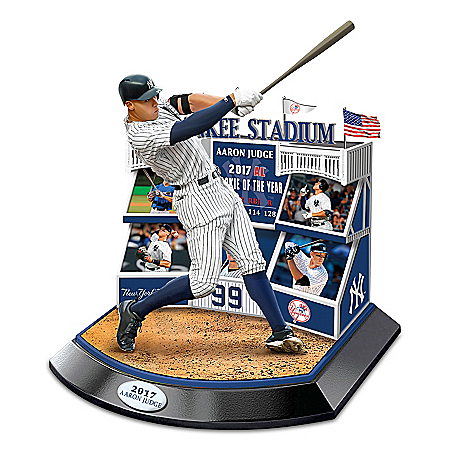 Signature Moment Featuring 2017 MLB AL Rookie Of The Year New York Yankees Aaron Judge Sculpture 1401729009