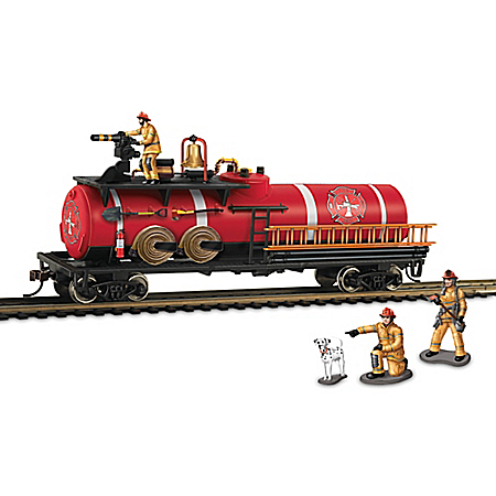 HO-Scale American Heroes Firefighting Tank Train Car