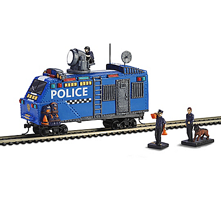 Railway Police HO-Scale Armored Train Car & Accessory Set