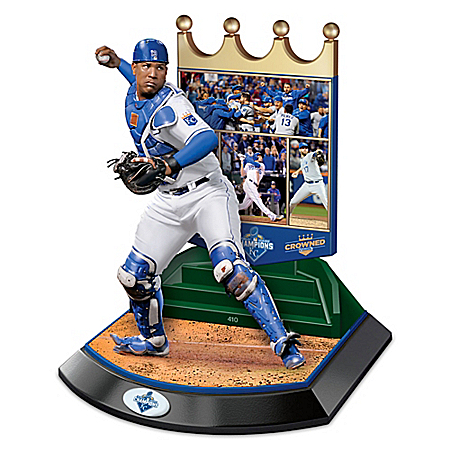 Kansas City Royals 2015 World Series Commemorative Salvador Perez Sculpture 1401762001