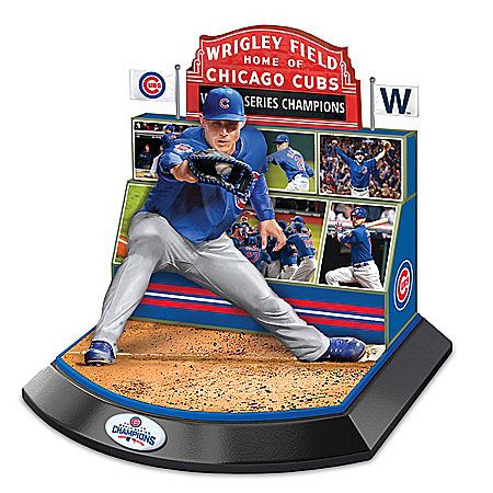 Chicago Cubs 2016 World Series Commemorative Anthony Rizzo Sculpture 1401762007