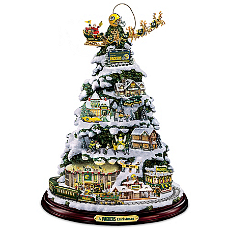 A Packers Christmas Tabletop Tree