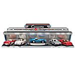 Corvette - America's Sports Car Diecast Car Set With Art Deco-Style Illuminated Display