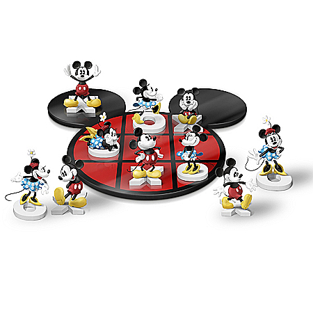 Disney Mickey Mouse & Minnie Mouse Ready To Play Tic-Tac-Toe Set