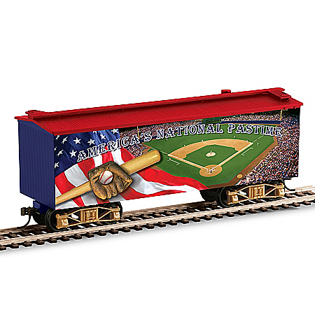 Baseball America's National Pastime Musical Train Car