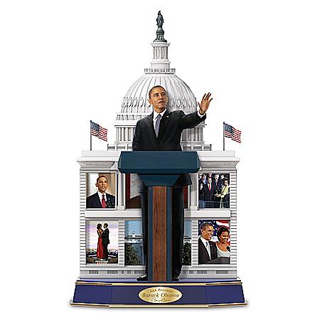 Legacy Of A Leader President Barack Obama Handcrafted Sculpture