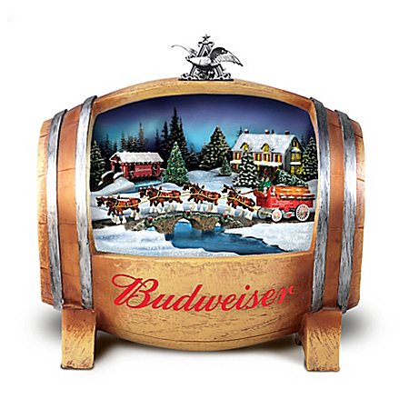Budweiser Barrelful Of Holiday Joy Illuminated Sculpture