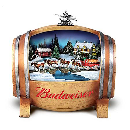 Budweiser Barrelful Of Holiday Joy Illuminated Sculpture