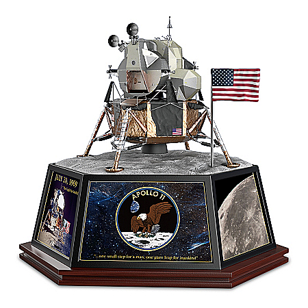 Apollo 11 Hand-Painted Lunar Module Masterpiece Tribute Sculpture