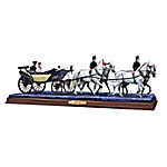 A Royal Tradition Horse & Carriage Wedding Sculpture