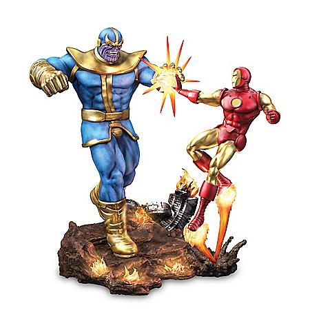 MARVEL Comics Iron Man Vs. Thanos Illuminated Sculpture