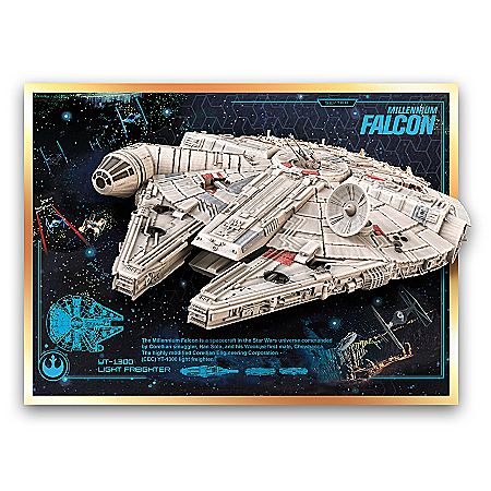 Millennium Falcon Illuminated Musical Wall Sculpture