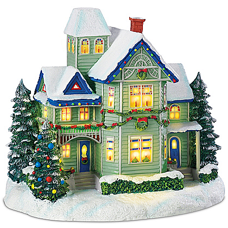 Sculpture: Thomas Kinkade Candle Glow House Sculpture