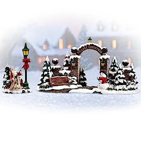 Christmas Gate Village Accessory Set