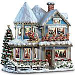 Thomas Kinkade 'Twas The Night Before Christmas Story House