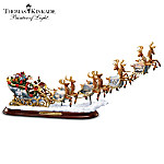 Thomas Kinkade Santas Sleigh Illuminated Figurine: The Night Before Christmas