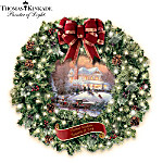 Thomas Kinkade Seasons Of Joy Indoor Christmas Wreath