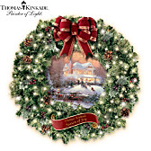Thomas Kinkade Seasons Of Joy Wreath