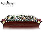 Thomas Kinkade Winter Wonderland Holiday Garland And Stocking Holder