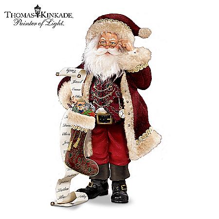 Thomas Kinkade St. Nicholas, Naughty Or Nice Santa Figurine