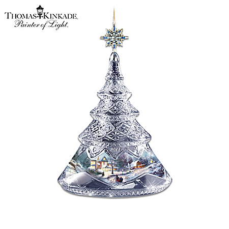 2013 Christmas Tree Ornament: Thomas Kinkade A Christmastime Glow