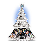 Elvis Presley Legend Collectible Crystal Christmas Tree