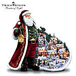 Thomas Kinkade Santas Holiday Village Figurine: Unique Christmas Decoration