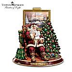 Thomas Kinkade The Joy Of Christmas Collectible Santa Claus Animated Musical Figurine