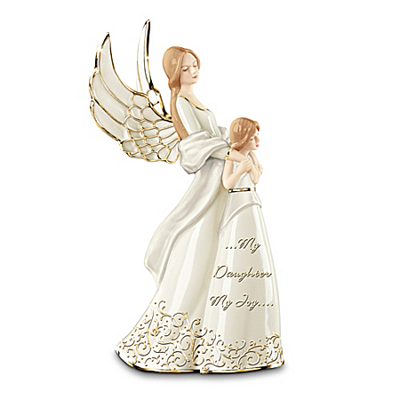 My Daughter My Joy Mother And Daughter Collectible Angel Figurine: Gold Edition