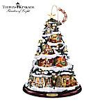 Thomas Kinkade Night Before Christmas Artificial Tabletop Christmas Tree