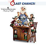 Thomas Kinkade Santa's Perfect Recipe Figurine