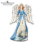 Thomas Kinkade The Light Of Peace Collectible Porcelain Angel Figurine With Charms