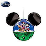 Disney Mickey And Minnie Jingle Bell Ornament: Snow-Body Warms My Heart Like You