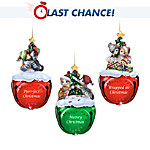 Meowy Christmas Jingle Bells Kitten Holiday Ornament Collection: Set One